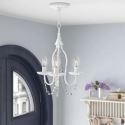 Lampe suspendue à 3 ampoules D33cm lumière en fer cristal pour salon chambre