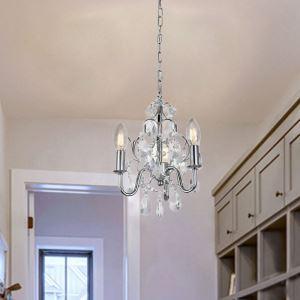 Suspension nordique en cristal pour salon salle d'étude lampe de plafond à 3 lumières