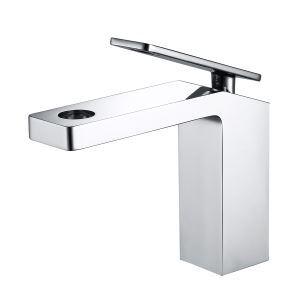 Robinet de lavabo cascade moderne H17.2cm pour salle de bains