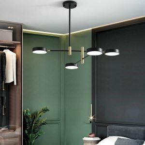 Lampe de plafond LED suspension moderne pour salon chambre, noir/blanc