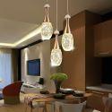 Lampe suspendue en aluminium cristal design moderne pour salon chambre