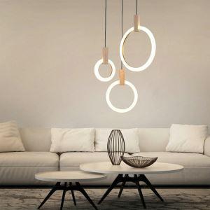 Suspension moderne simple à LED lampe unique pour salon chambre