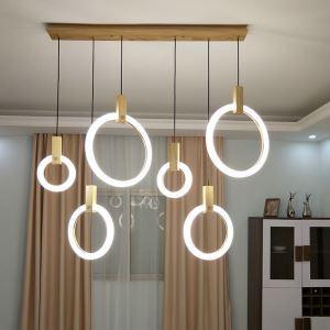 Suspension moderne à LED pour salon chambre à coucher, 2 modèles