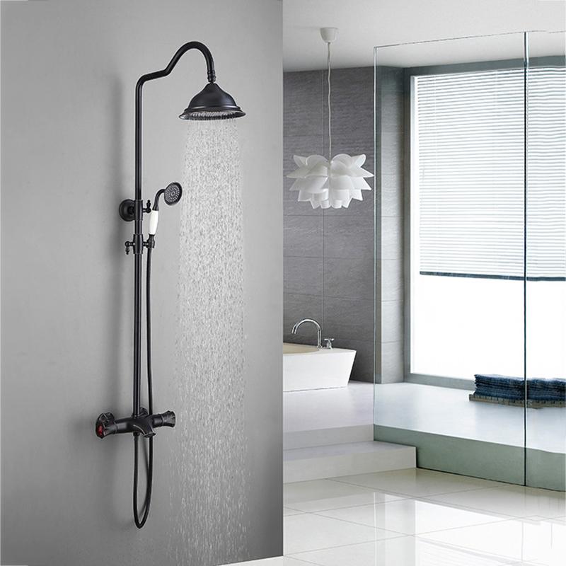 Colonne de douche moderne thermostatique couleur ORB pour ...