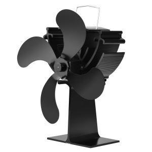 Ventilateur de cheminée en aluminium noir pur pour salle