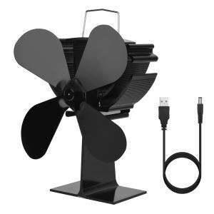 Ventilateur à poêle alimenté thermoélectrique pour le brûleur à bois/cheminée