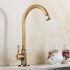 Afficher les détails pour Robinet de lavabo/vasque H 22 cm  en cuivre brossé rétro pour salle de bain