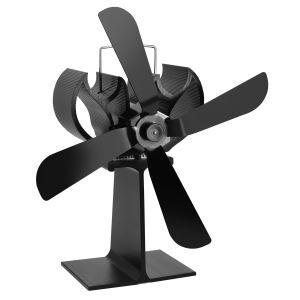 Ventilateur silencieux pour cheminée alimentée à bois, matière en aluminium noir