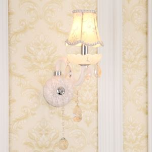 Applique murale blanche en cristal européen pour salon couloir