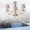 Lustre en cristal cognac suspension baroque pour salon chambre