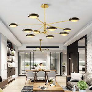 Suspension moderne en fer or branche pour salle à manger chambre