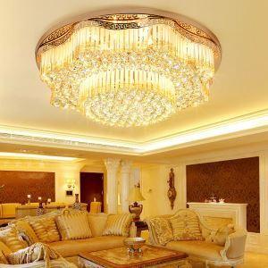 Lampe à cristaux LED moderne plafonnier pour salon chambre