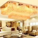Plafonnier LED rectangulaire minimaliste en cristal pour salon chambre