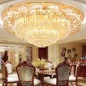 Lampe de plafond LED en cristal style européen pour salon chambre