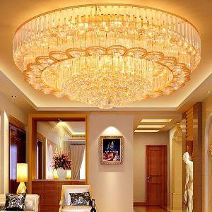 Lampe de plafond à LED européen en cristal luxe pour salon chambre cuisine