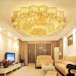 Plafonnier LED en cristal luxe de forme fleur conçu pour salon chambre