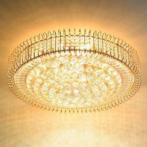 Plafonnier à LED contemporain en cristal pour salon chambre, style européen