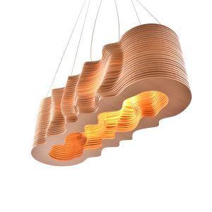 Lustre 3D élégant de conception de vague, commande numérique,décoration DIY pour salon,  salle à manger,  effet 3D