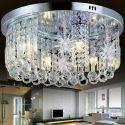 Lampe de plafond en cristal avec décoration en forme étoile lune pour salon chambre