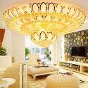 Plafonnier contemporain en cristal forme de lotus créatif pour salon chambre