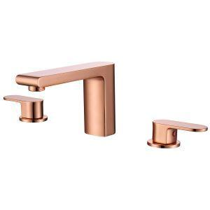 Contemporain robinet de lavabo à 2 poignées pour salle de bains