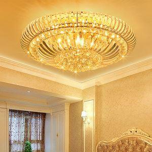 Plafonnier LED moderne en cristal luxe design pour chambre salle de séjour