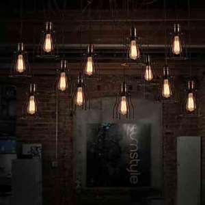 (Entrepôt UE) Creatif Style Américain 12 Ampoule Lustre