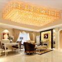 Plafonnier LED européen en cristal luxe conçu pour salon chambre hall d'hôtel