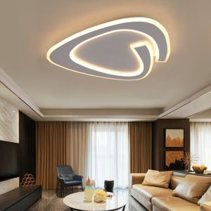 Plafonnier triangle biscornu en acrylique LED pour salle d'étude chambre