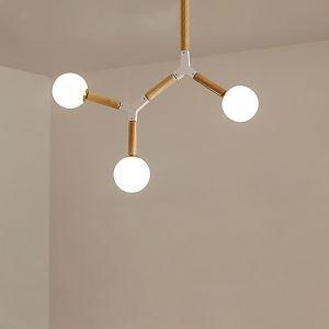 Lustre nordique moderne en bois avec 3/5/6/8 lampes pour salon chambre à coucher