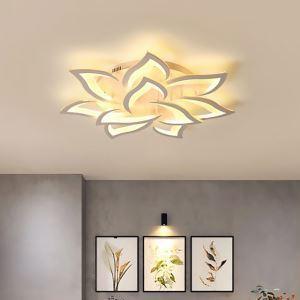 Plafonnier à LED en acrylique fleur blanche conçu pour salon chambre à coucher