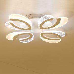 Plafonnier à LED en acrylique pour salon chambre à coucher couleur blanche design moderne