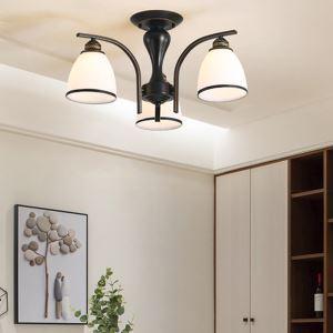 Lampe suspendue nordique avec abat-jour en verre pour salon chambre à coucher, multi-choix