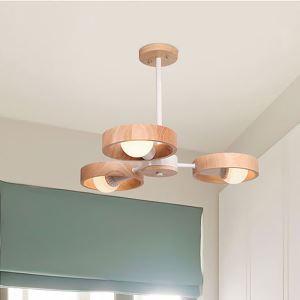 Lampe suspendue moderne en bois pour salon chambre cuisine, 3/5/6/8 lampes disponibles