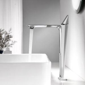 Robinet de lavabo moderne en cuivre chromé H31,7cm pour salle de bains