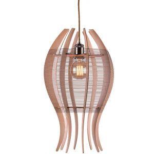 Lampe suspendue nordique en bois tilleul forme poisson créative pour salon chambre café