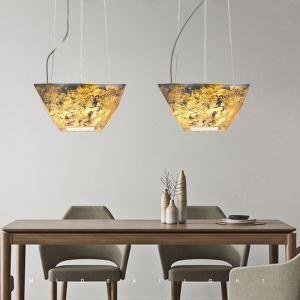 Suspension moderne en roche acyclique design translucide effet 3D pour salon chambre salle à manger