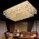 Plafonnier LED en cristal conçu pour salon chambre, style moderne