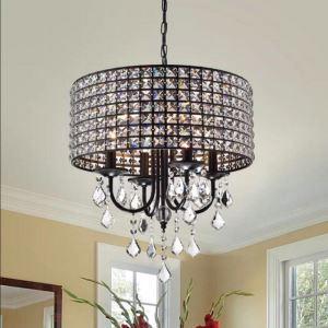 Suspension ronde en cristal luxueuse nordique pour salon salle à manger