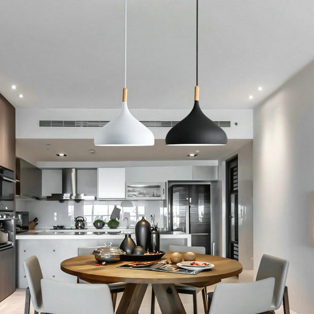 Lampe Salon Salle À Manger suspension moderne en aluminium peinture lampe unique pour