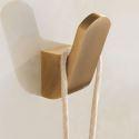 Crochet à vêtements en cuivre style européen rétro pour salle de bains