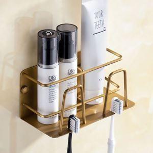 Porte brosse à dents style européen en cuivre antique pour salle de bains