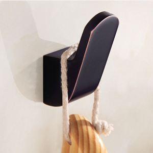 Patère en cuivre rétro crochet à vêtement noir ORB pour salle de bains