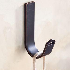Crochet à vêtement noir ORB patère rétro de salle de bain, 3 modèles