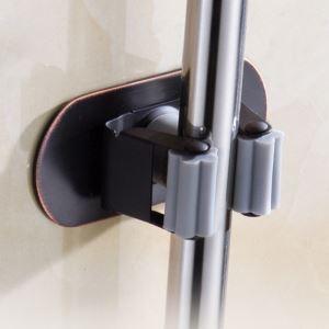 Porte à balai noir en acier inox accessoire pour salle de bains