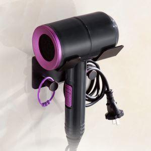 Porte-sèche-cheveux européen noir ORB en cuivre pour salle de bains