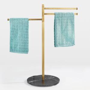 Barre porte-serviette multifonctionnel mobile pour salle de bain