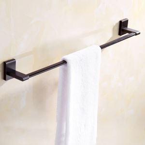 Porte-serviettes rétro en cuivre noire ORB pour salle de bains