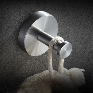 Patère moderne de salle de bains en acier inox D 5cm