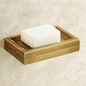 Boîte à savon en laiton massif or vintage pour salle de bains